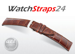 Windsor - Real Alligator Watchband, Art Manuel, Fullcut, Shiny